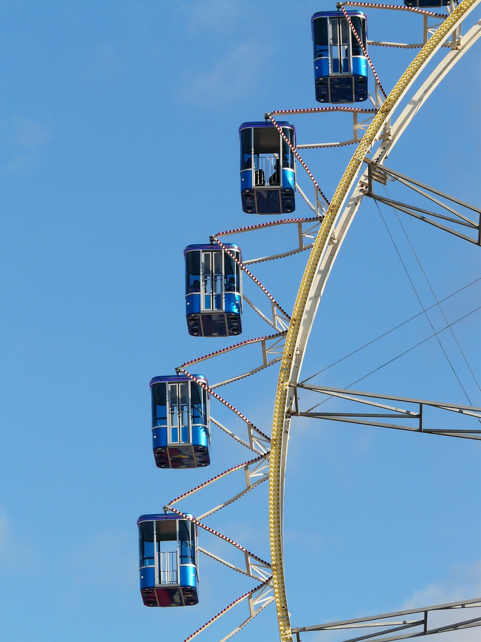 gondolas ferris wheel blue free photo