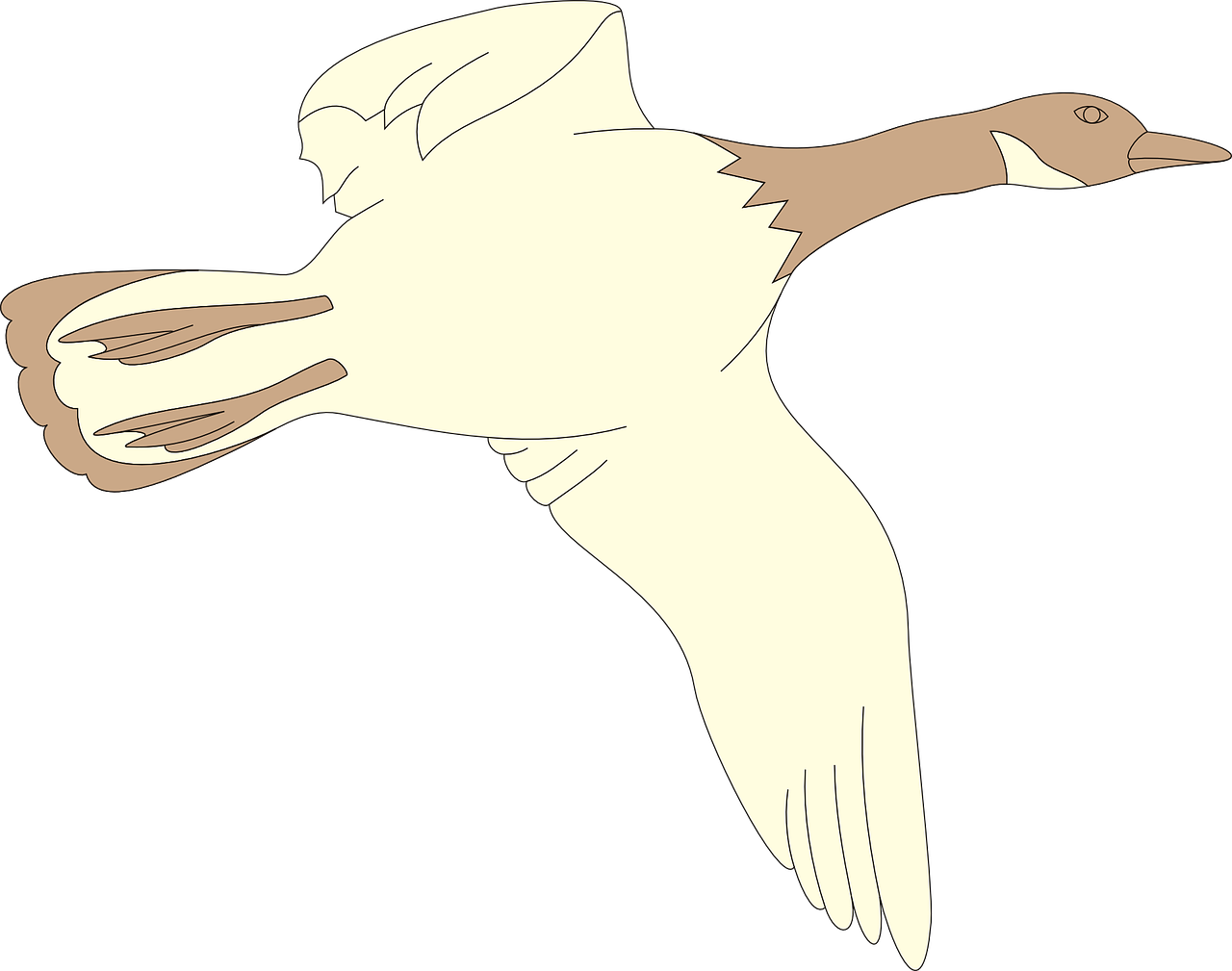 goose flying bird free picture
