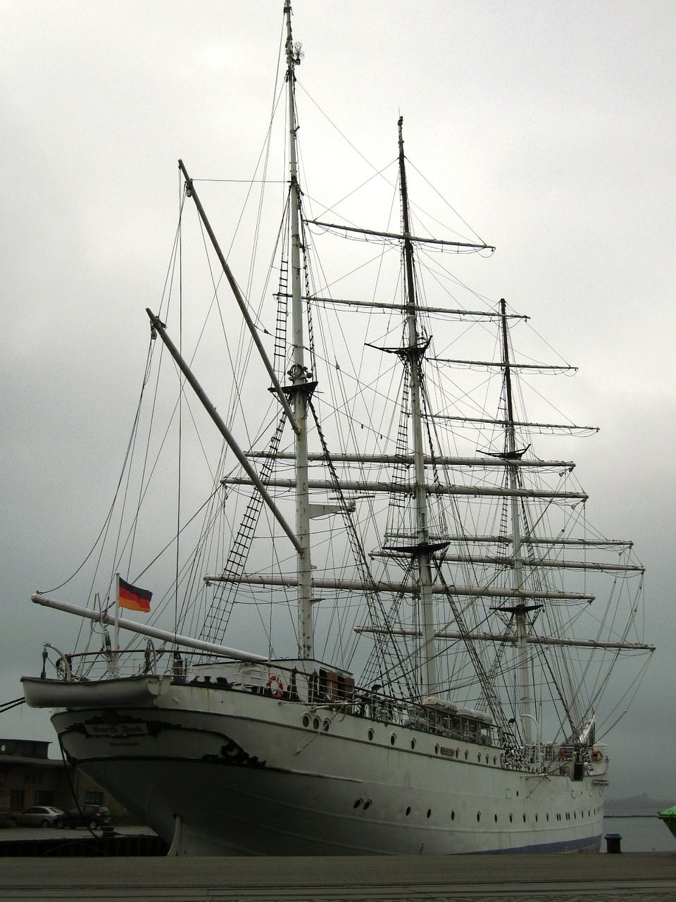 gorch fock ship stralsund free photo