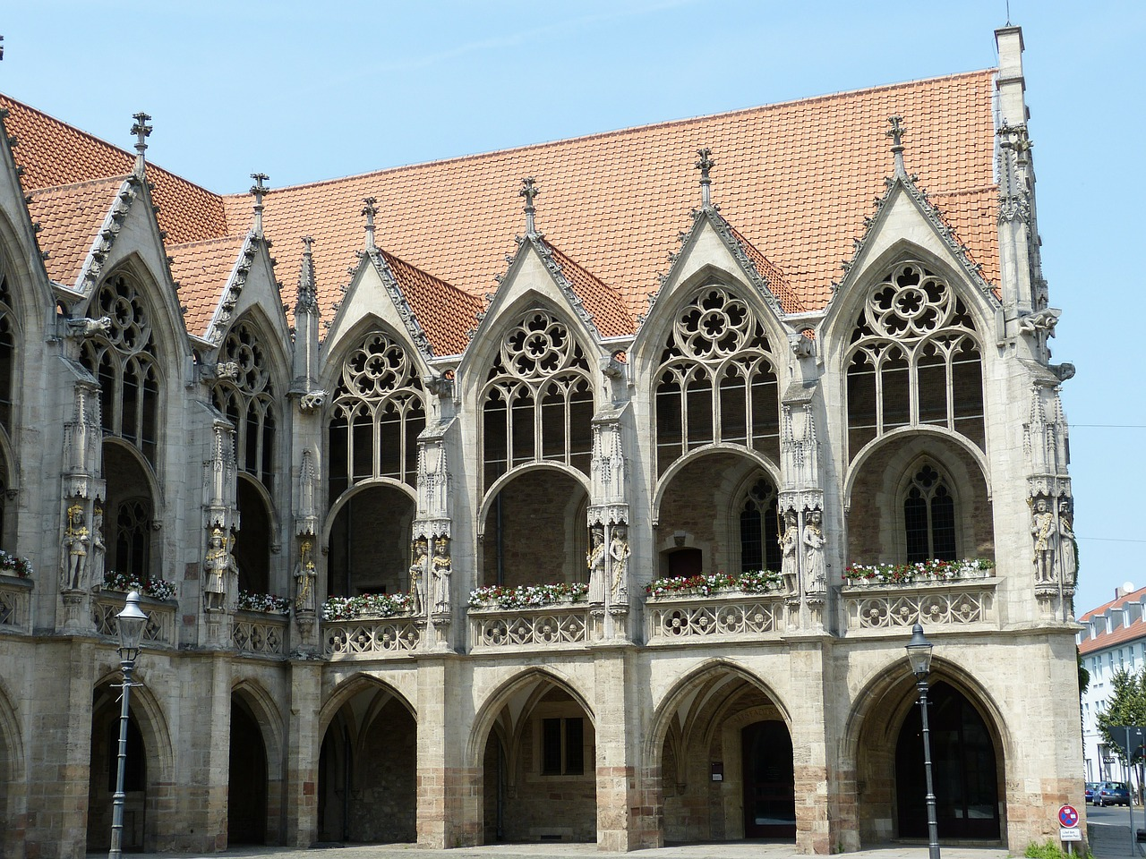 gothic town hall facade free photo