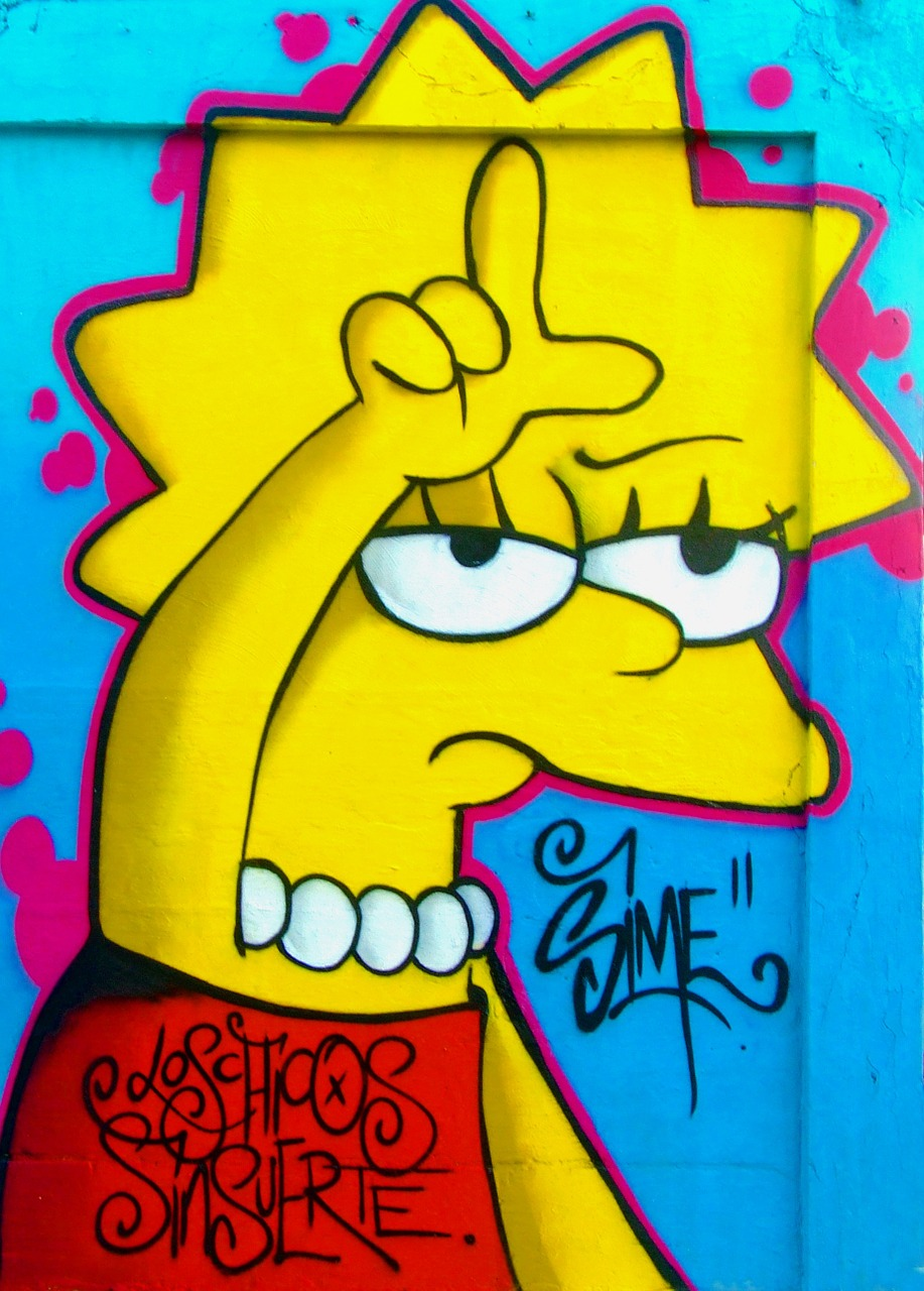 graffiti loser lisa simpson free photo