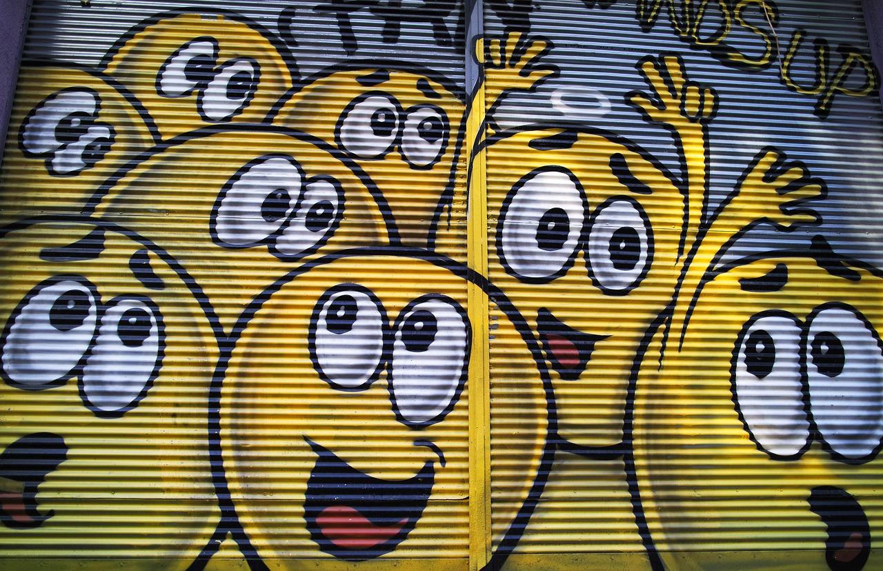 Graffiti Yellow Paint