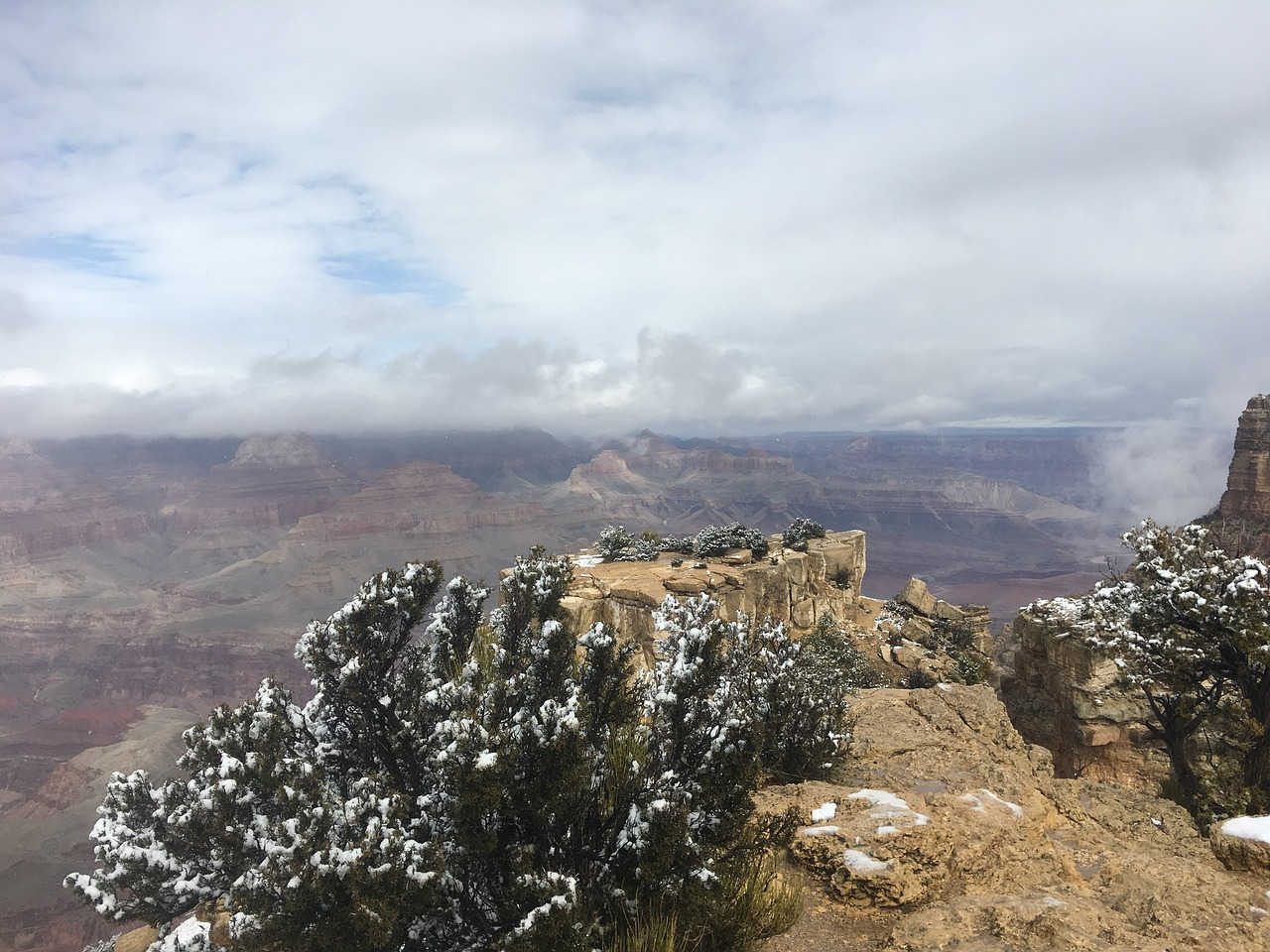 grand canyon scenic snow free photo