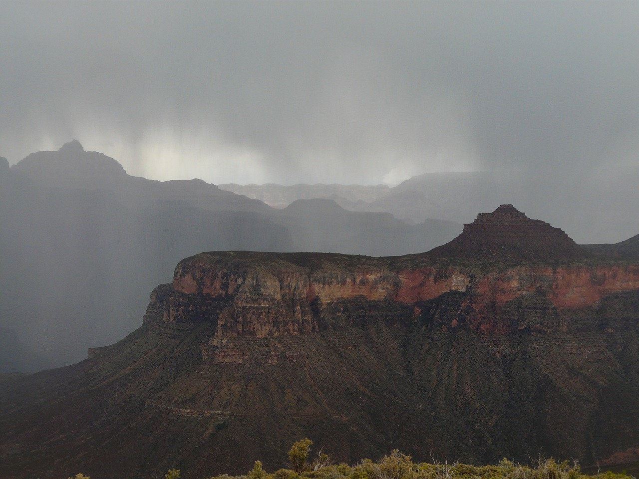 grand canyon gorge thunderstorm free photo