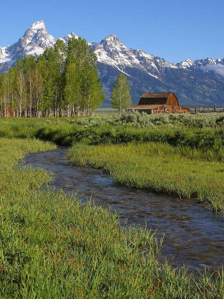 grand teton national park mormon row barn wyoming free photo