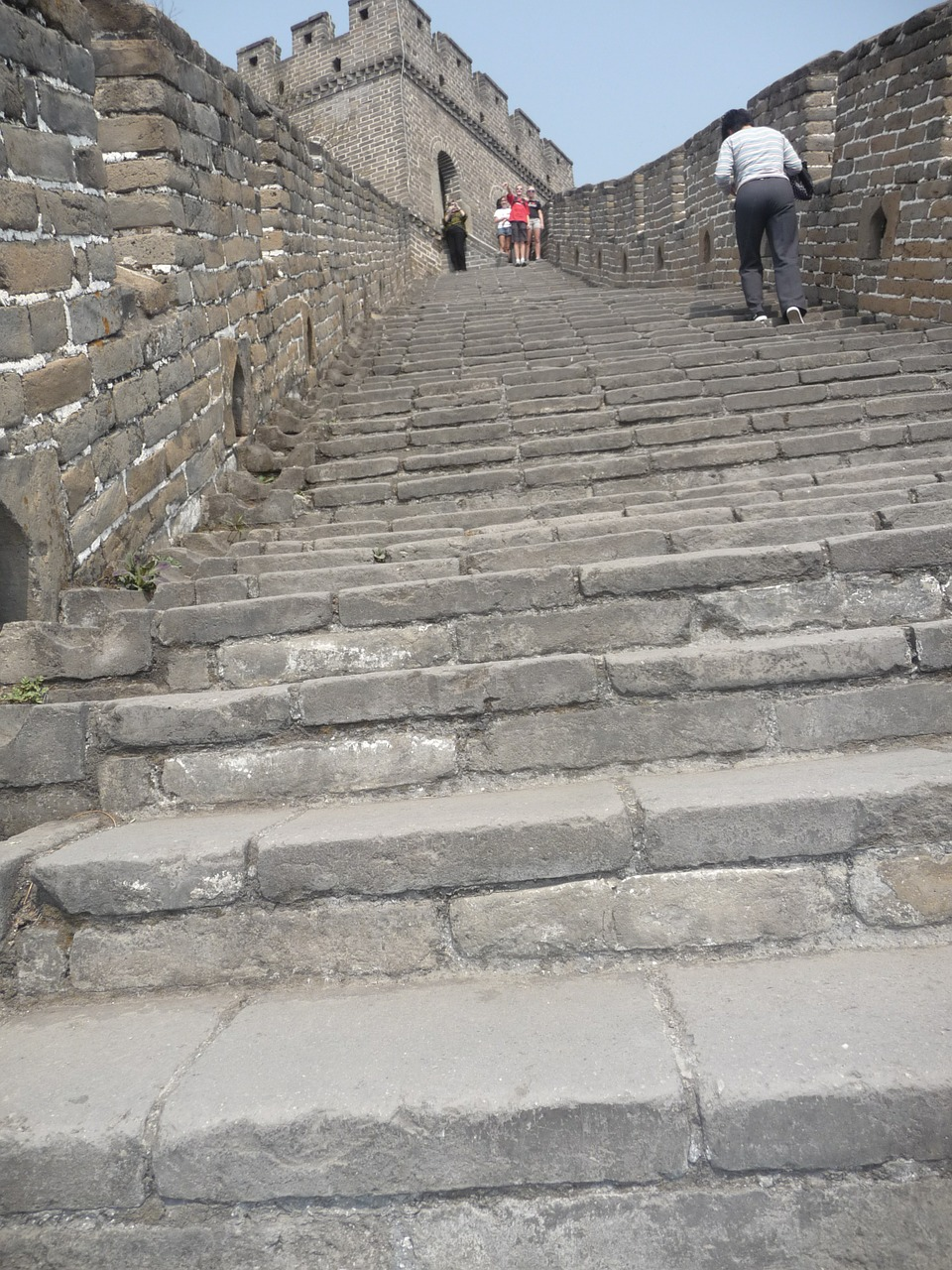 great wall of china stairs steps free photo