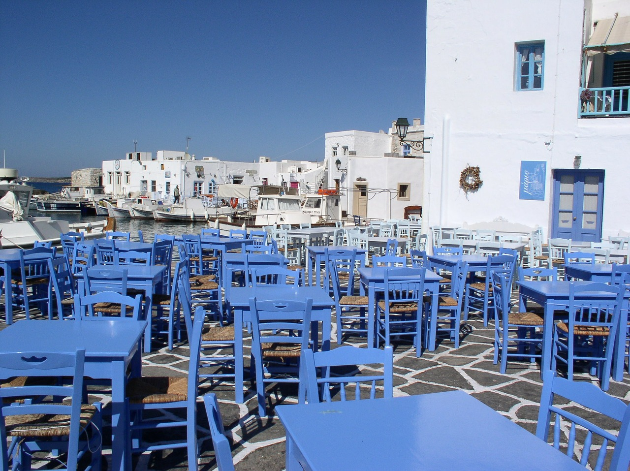 greece cyclades table free photo