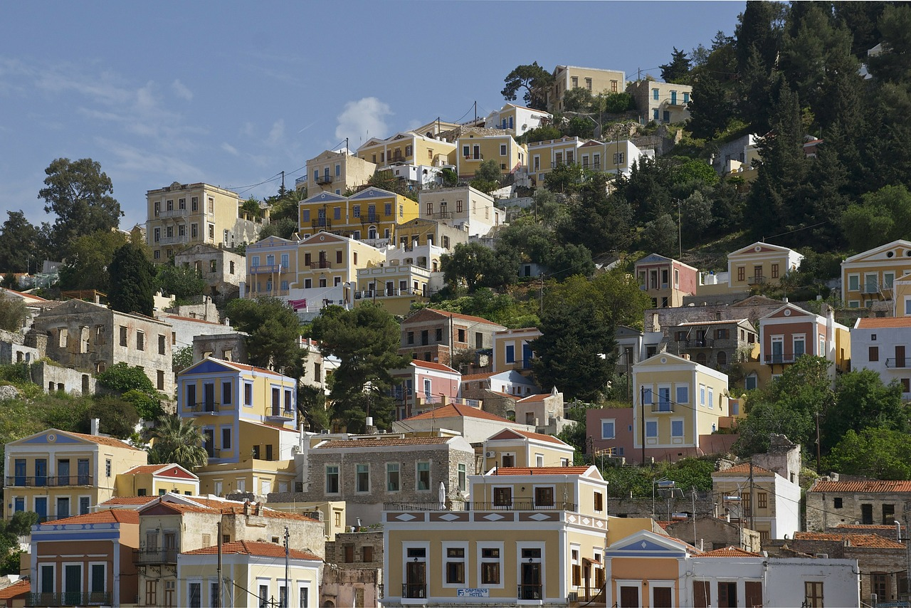 greece town houses free photo
