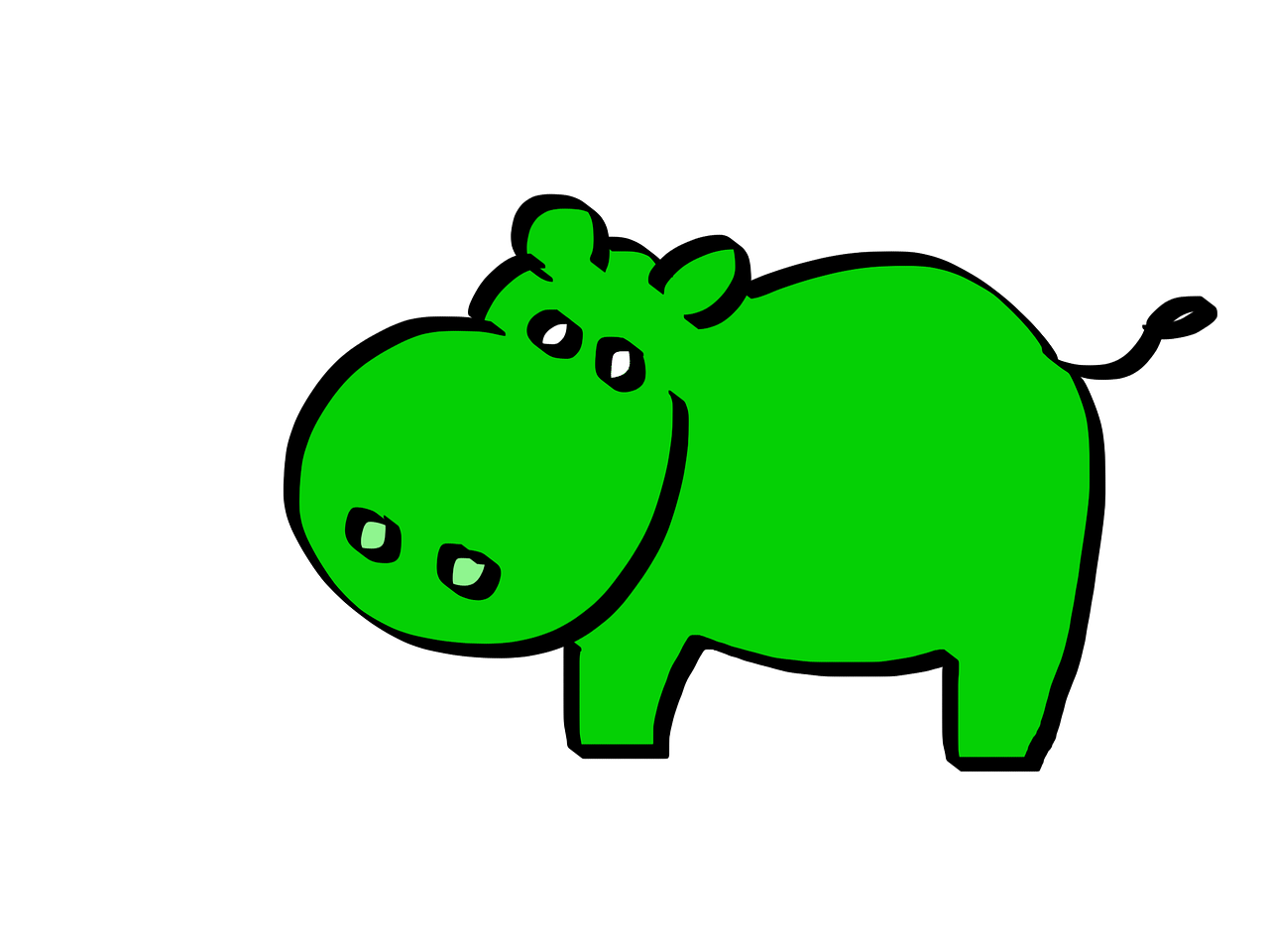 green hippo cartoon free photo