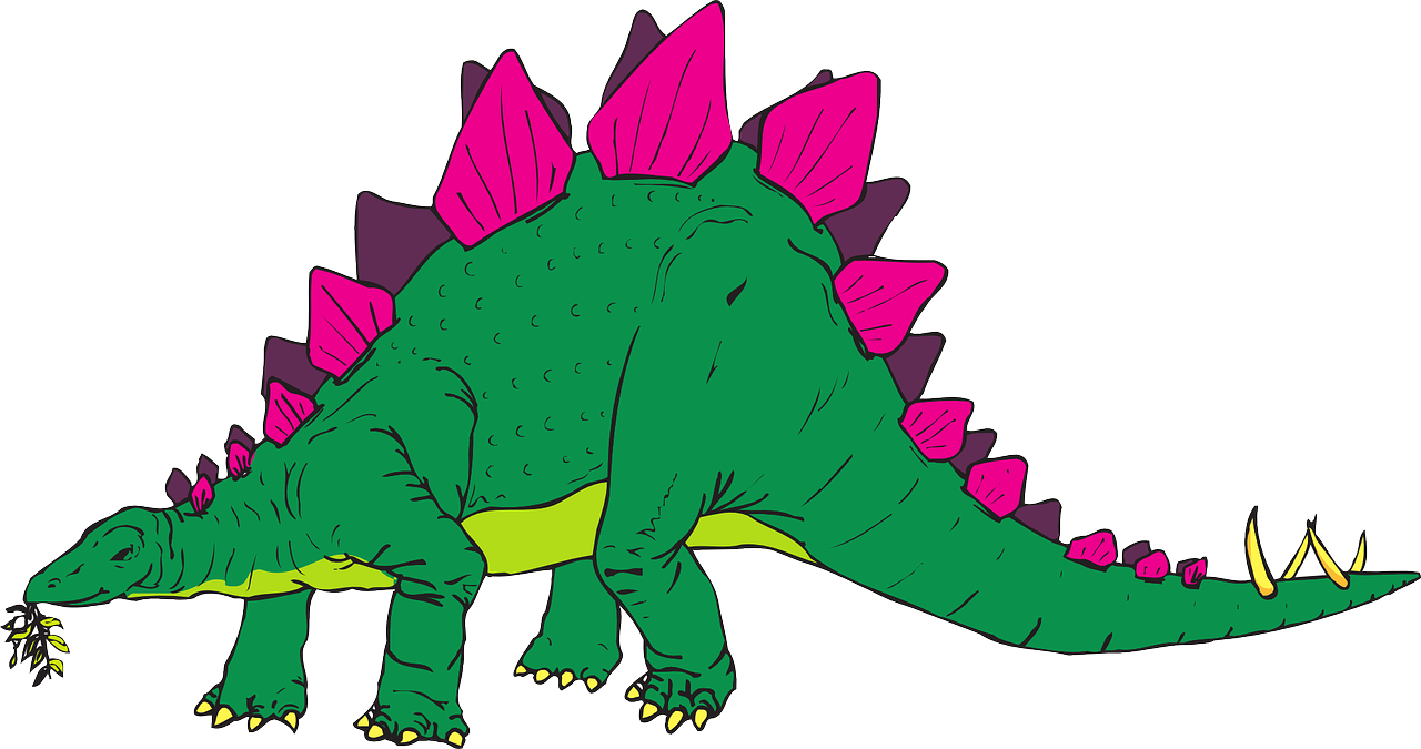 green pink dinosaur free photo
