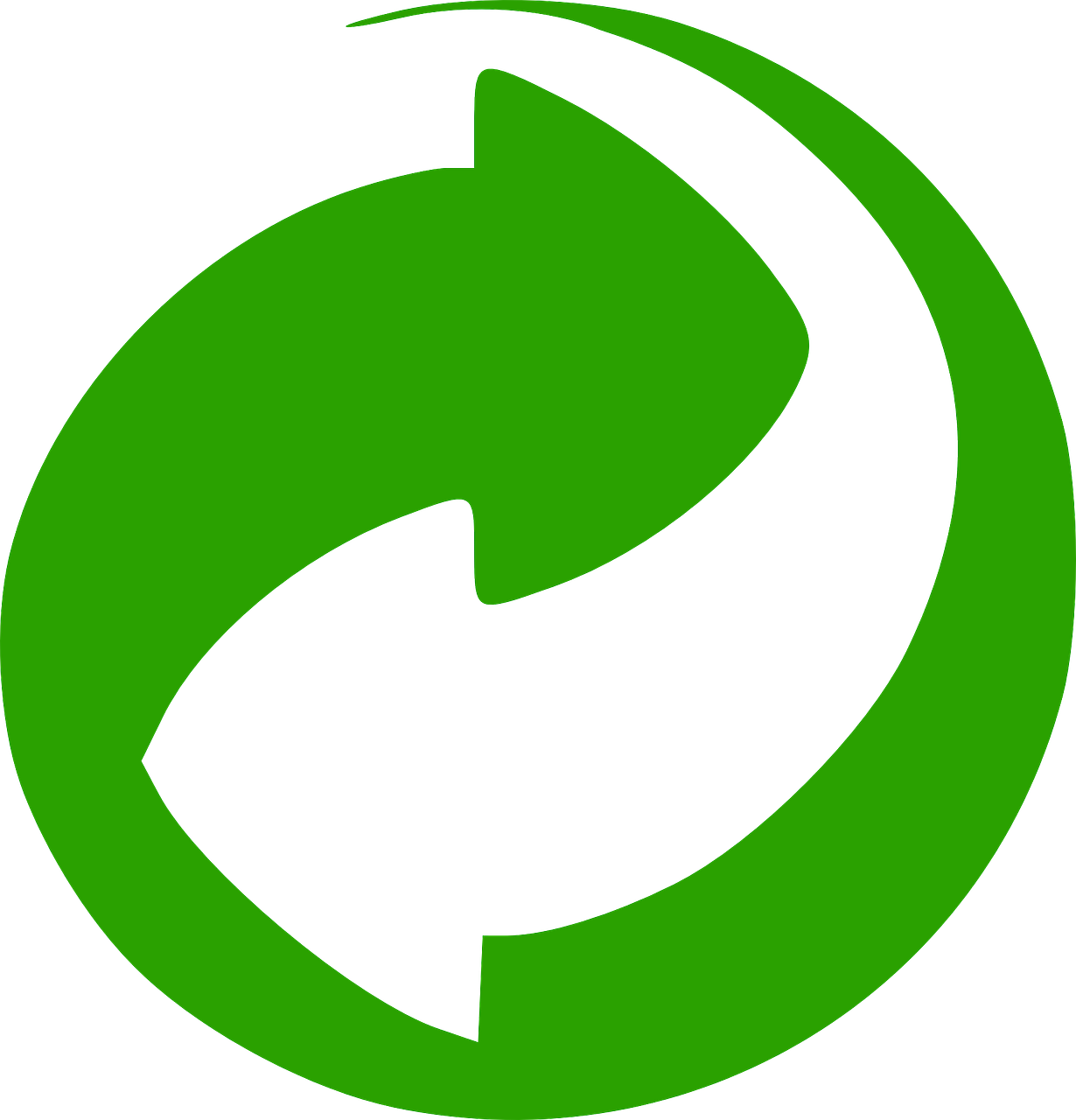 green dot logo recycling free photo