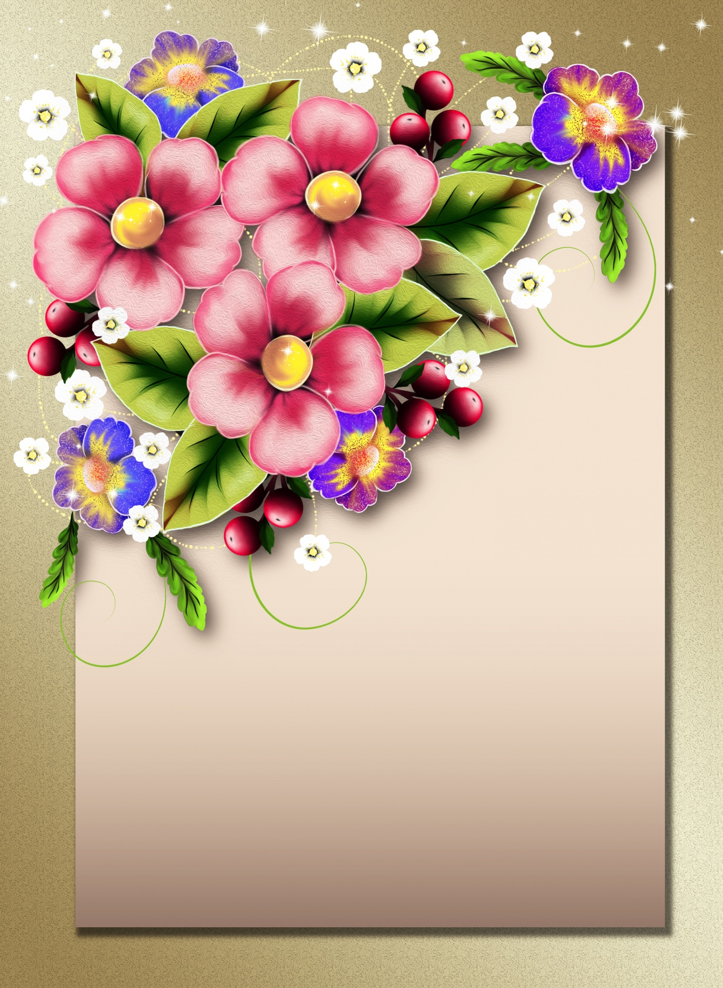 Flower Bouquet Drawing Background Paper Free Image From Needpix Com