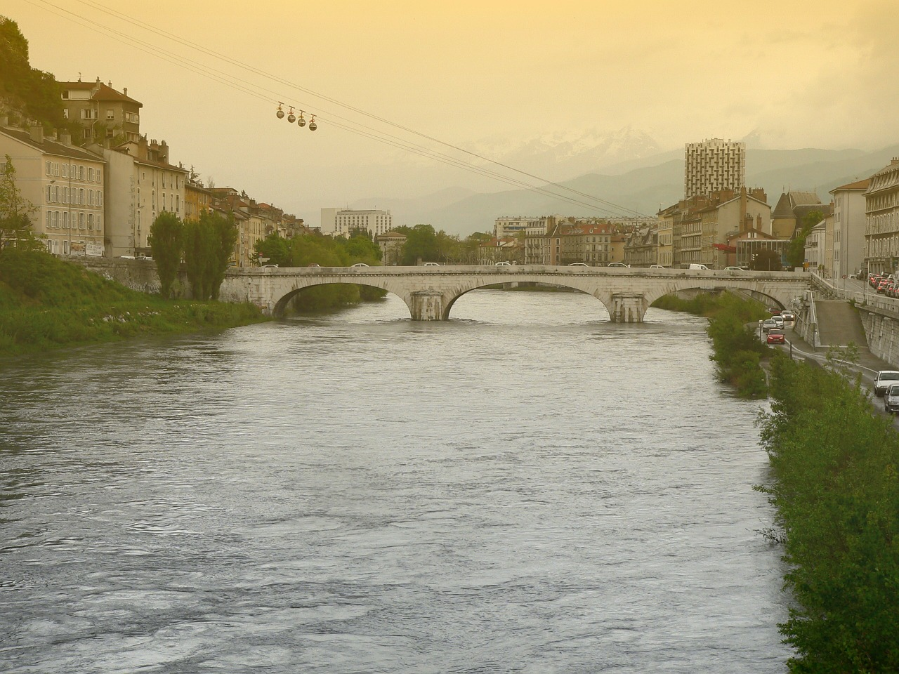 grenoble france cable-car free photo