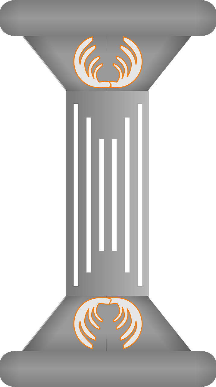 grey pillar decorative free picture