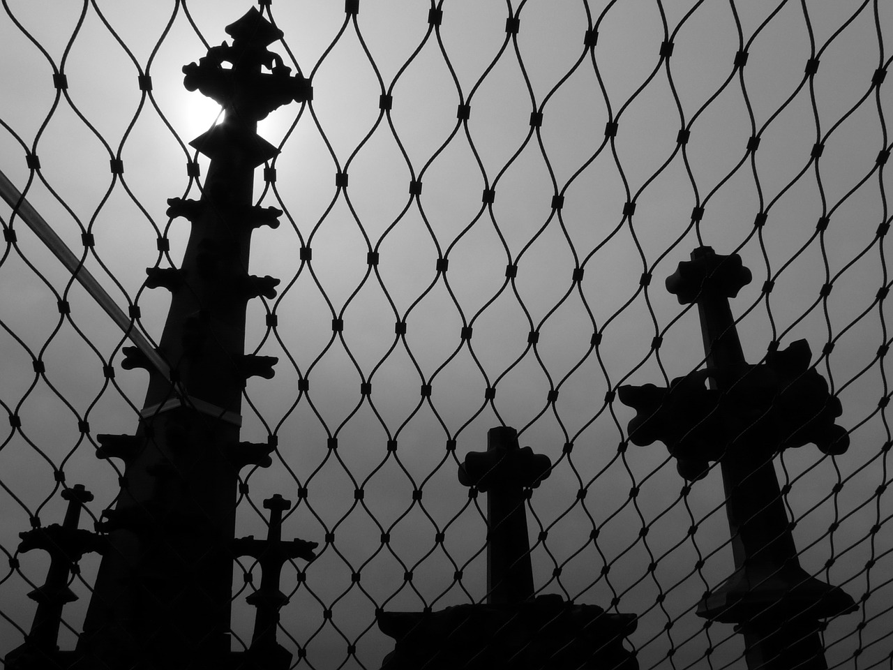grid towers graves free photo