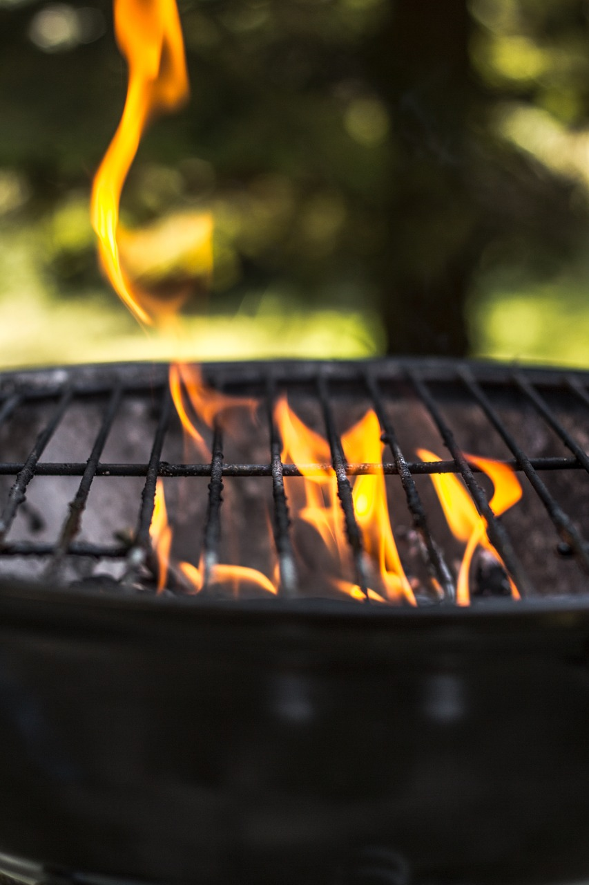 grill season on the grill fire free photo