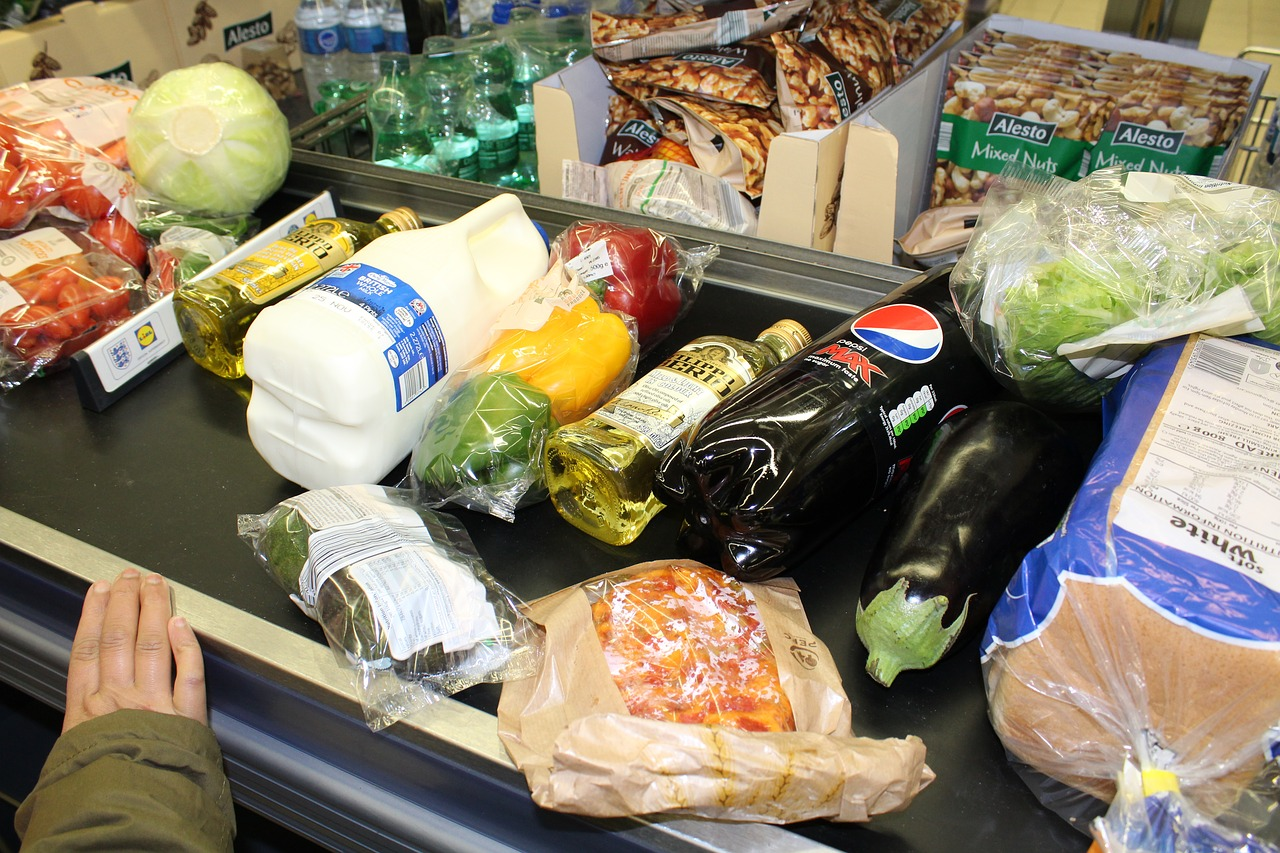 grocery shopping food free photo