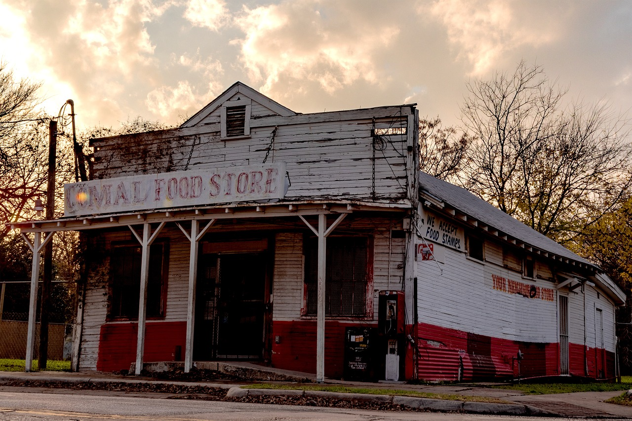 Grocery Store Old Time General Store Dilapidated Atx Free