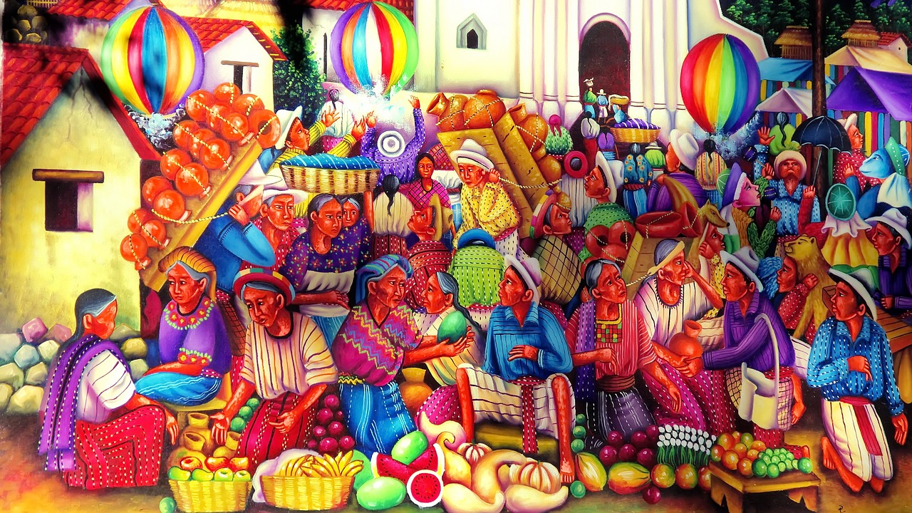 guatemala,art,painting,naive,artistic,ethnic,market,crafts,traditional,free pictures, free photos, free images, royalty free, free illustrations, public domain