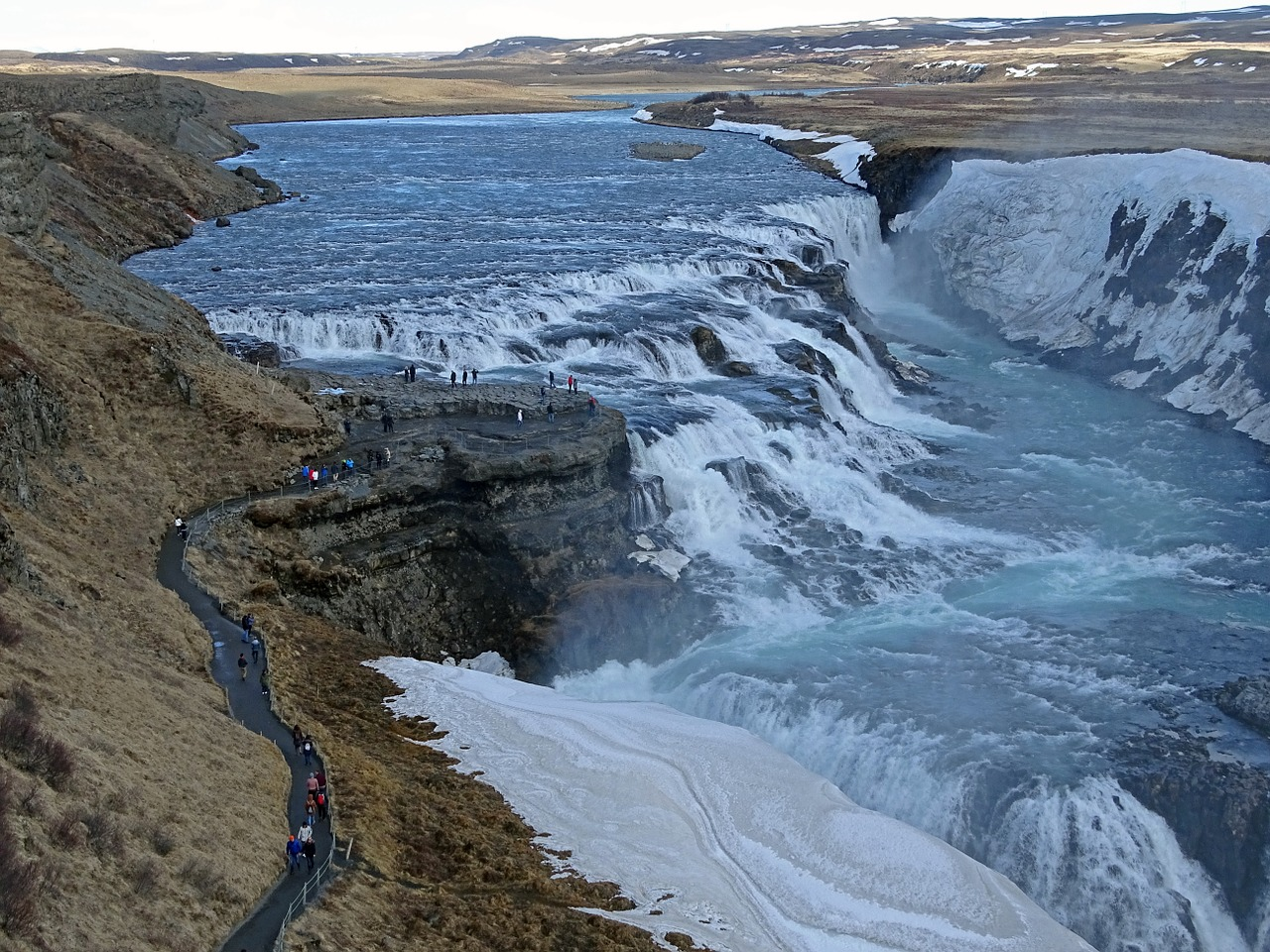 gullfoss iceland water free photo
