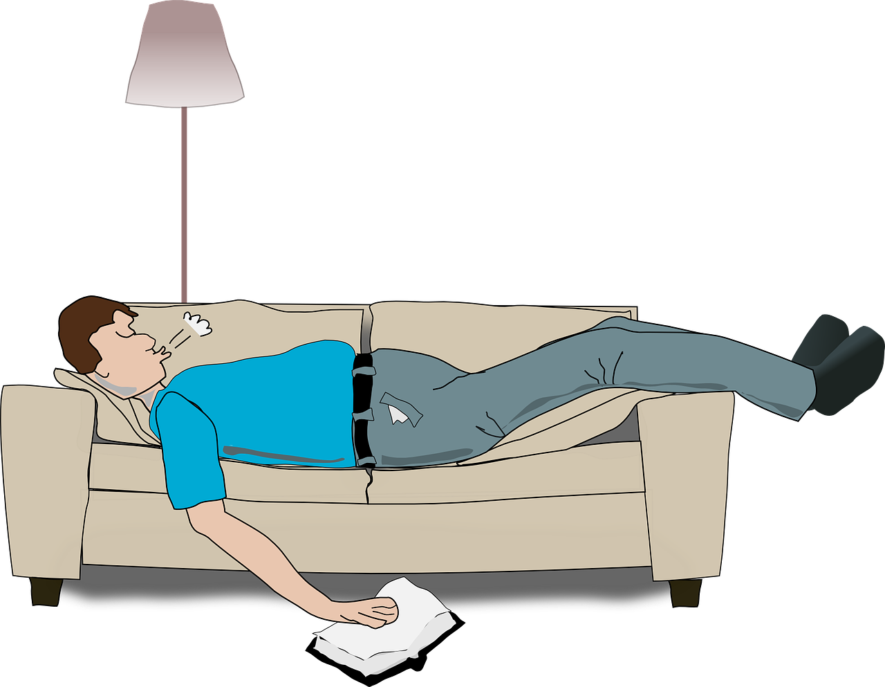 Image result for a man lieing on bed animated""