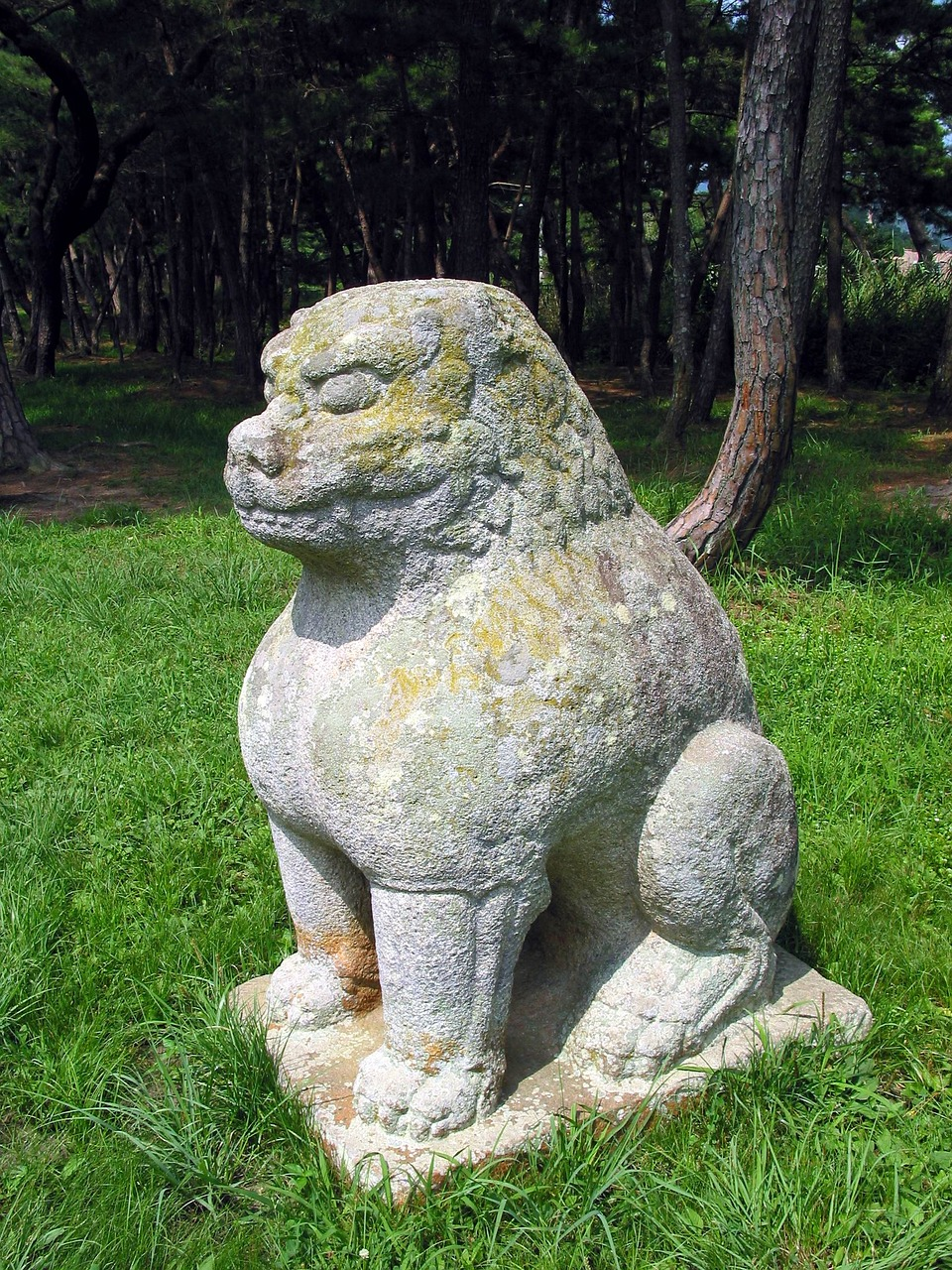 gwaereung stone statue korea free photo