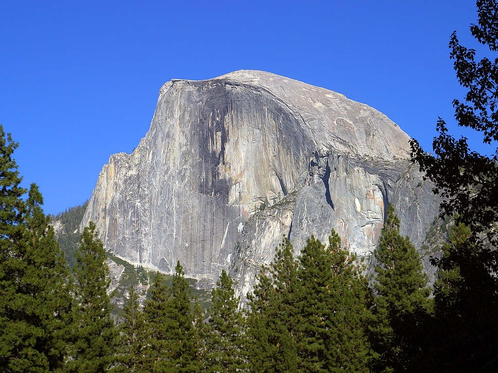 half dome yosemite valley free photo