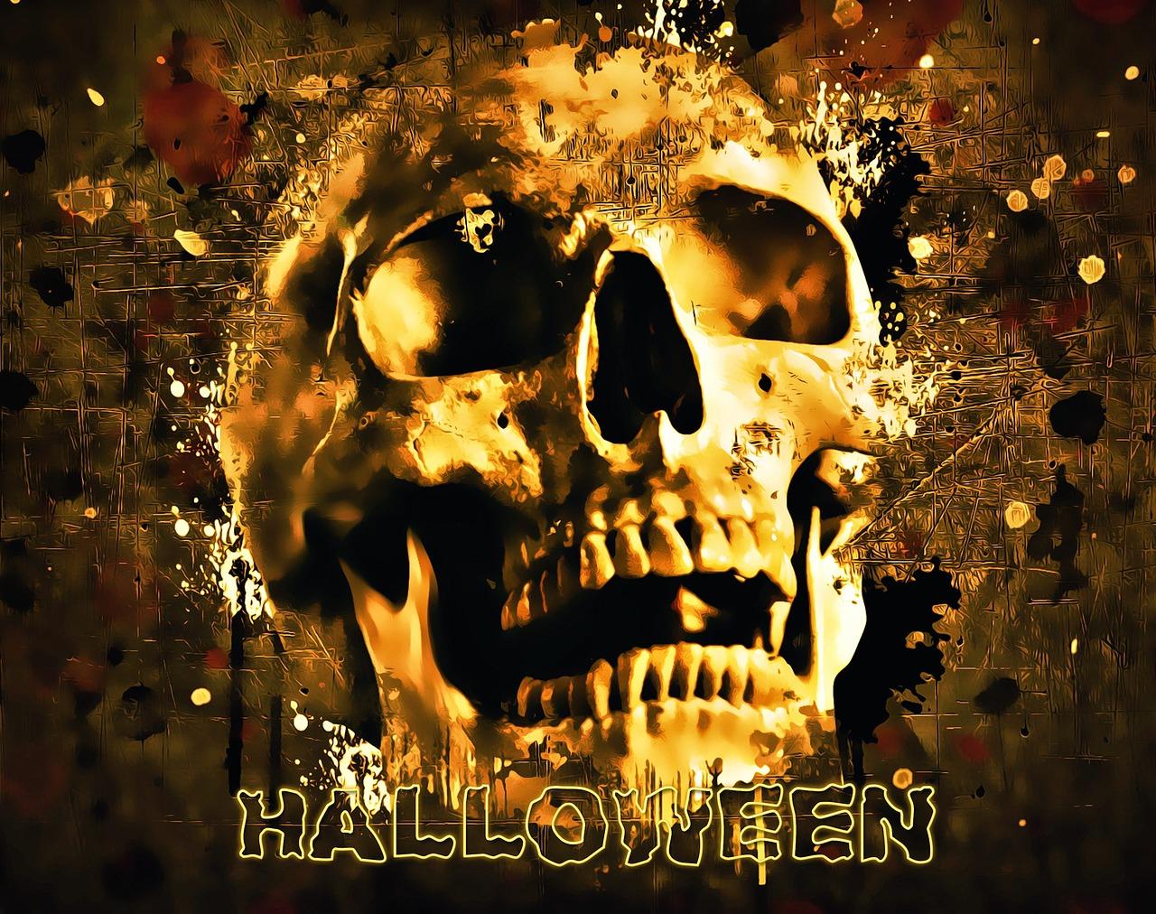 Halloween Feest.Halloween Kaukolė Helovyno Vakarėlis Siaubas Baugus Nemokamos