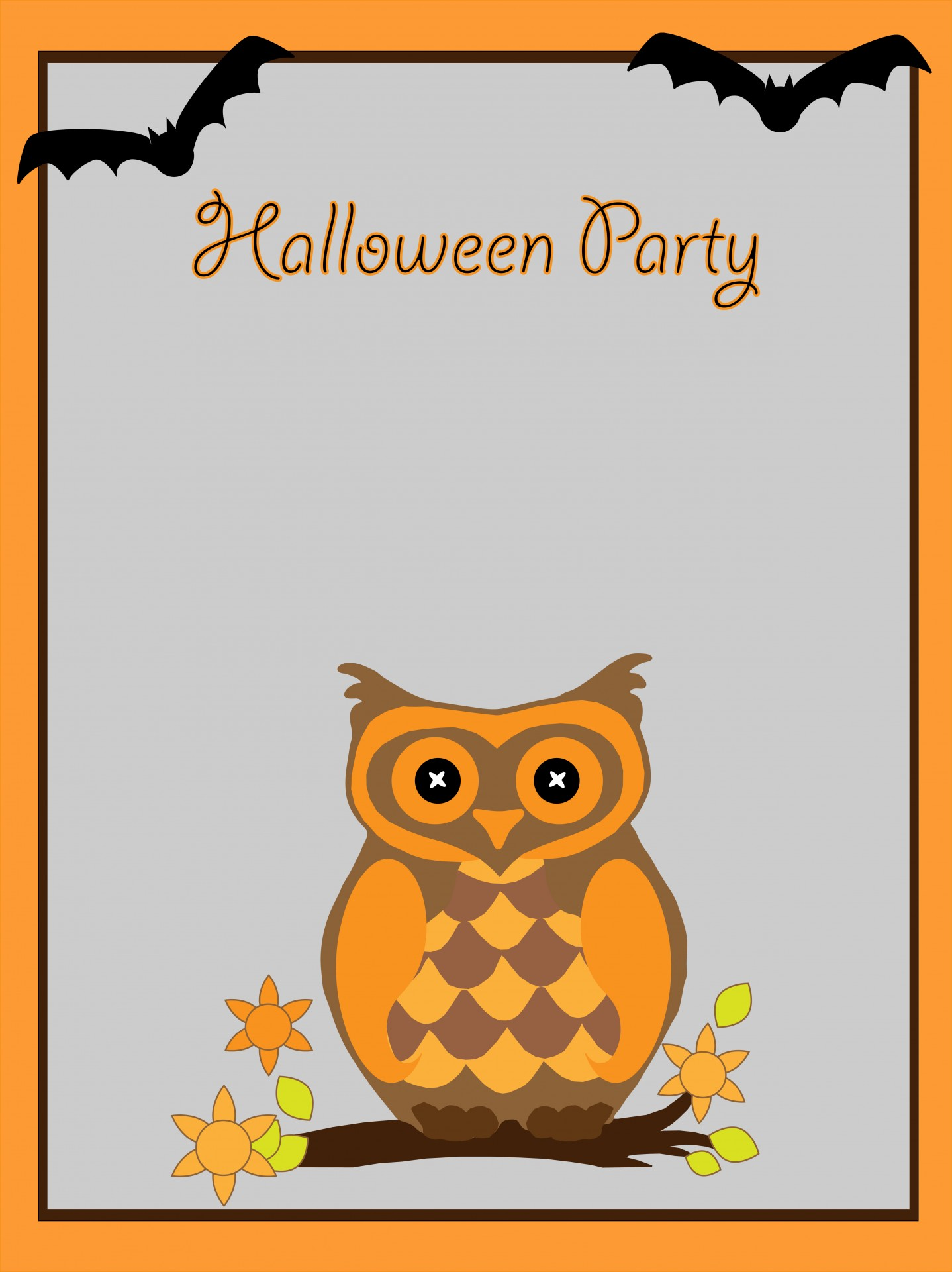 halloween card invitation template owl free photo from