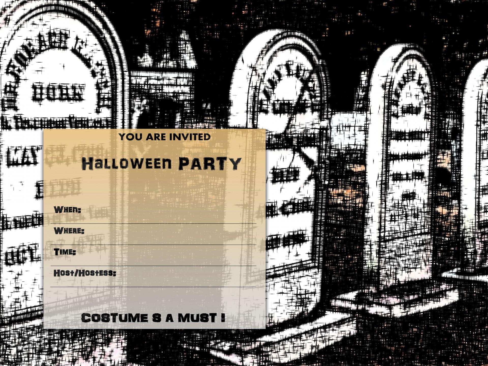 Party Invitation Halloween Black Orange Free Photo From Needpix Com