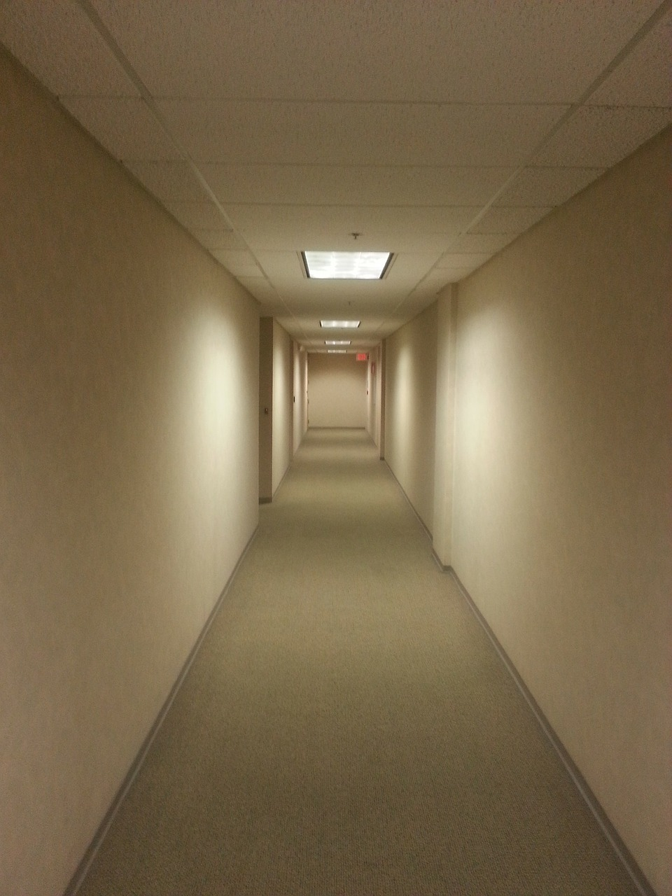hallway empty office free photo