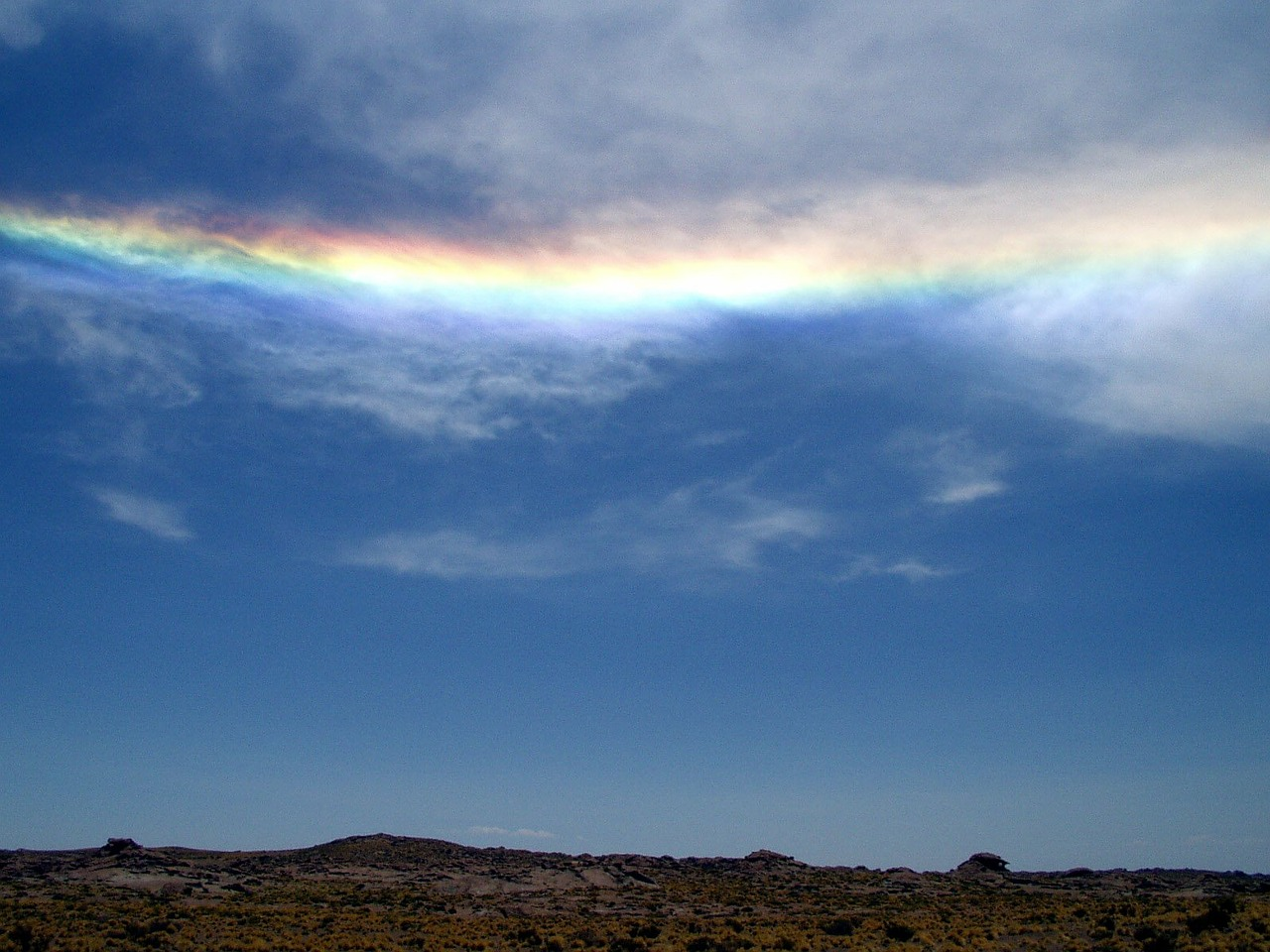 halo rainbow sky free photo