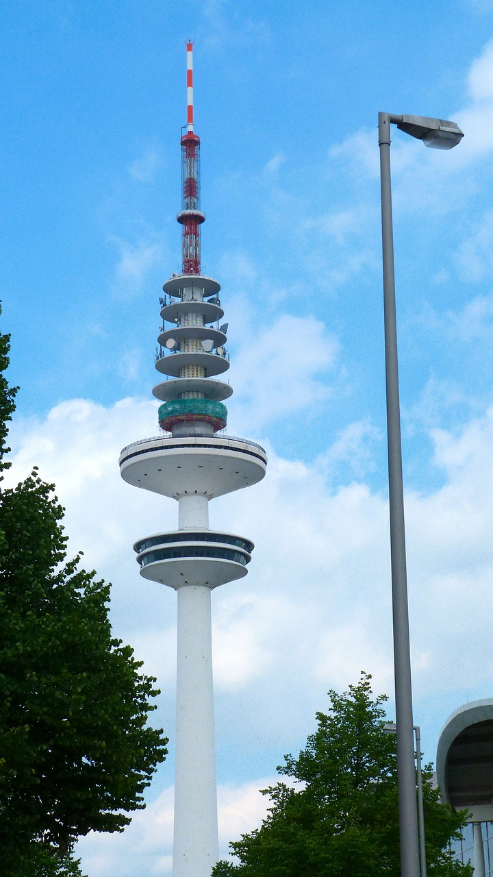 hamburg radio tower tele michel free photo