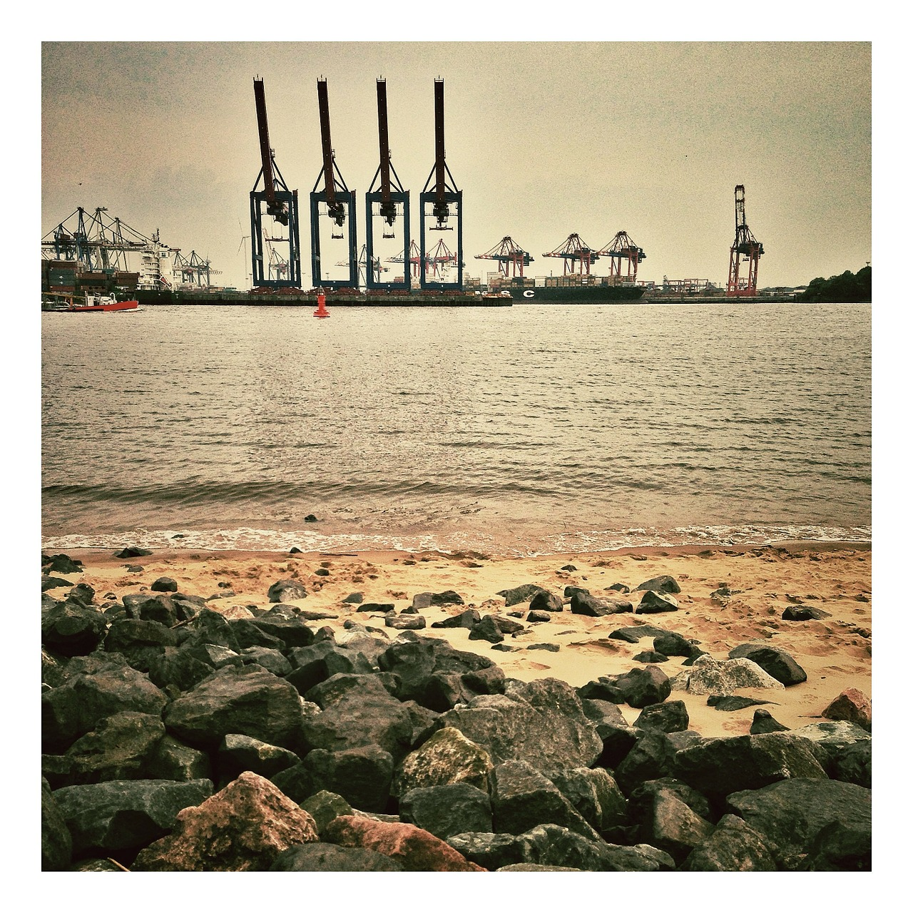 hamburg port germany free photo