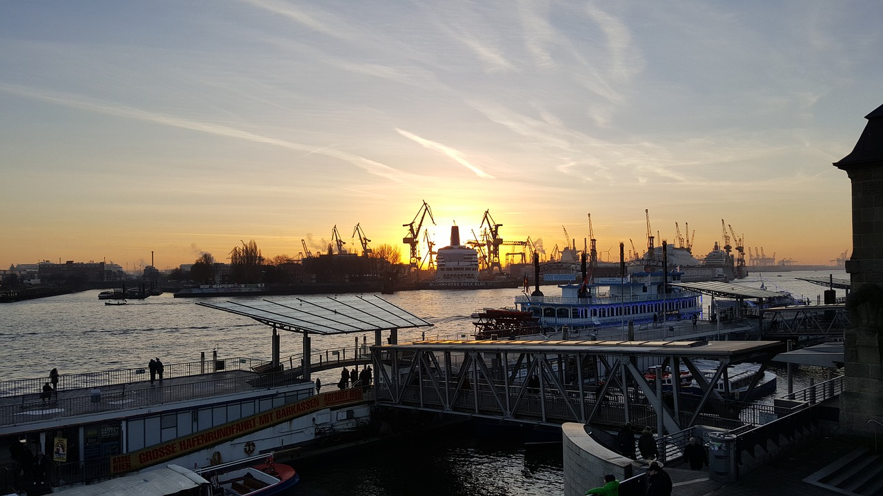 hamburg port elbe free photo