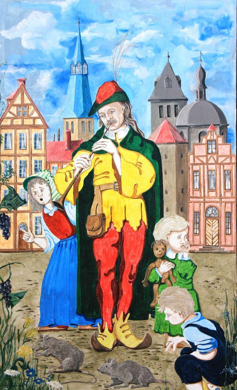 hamelin fairy tales mural free photo
