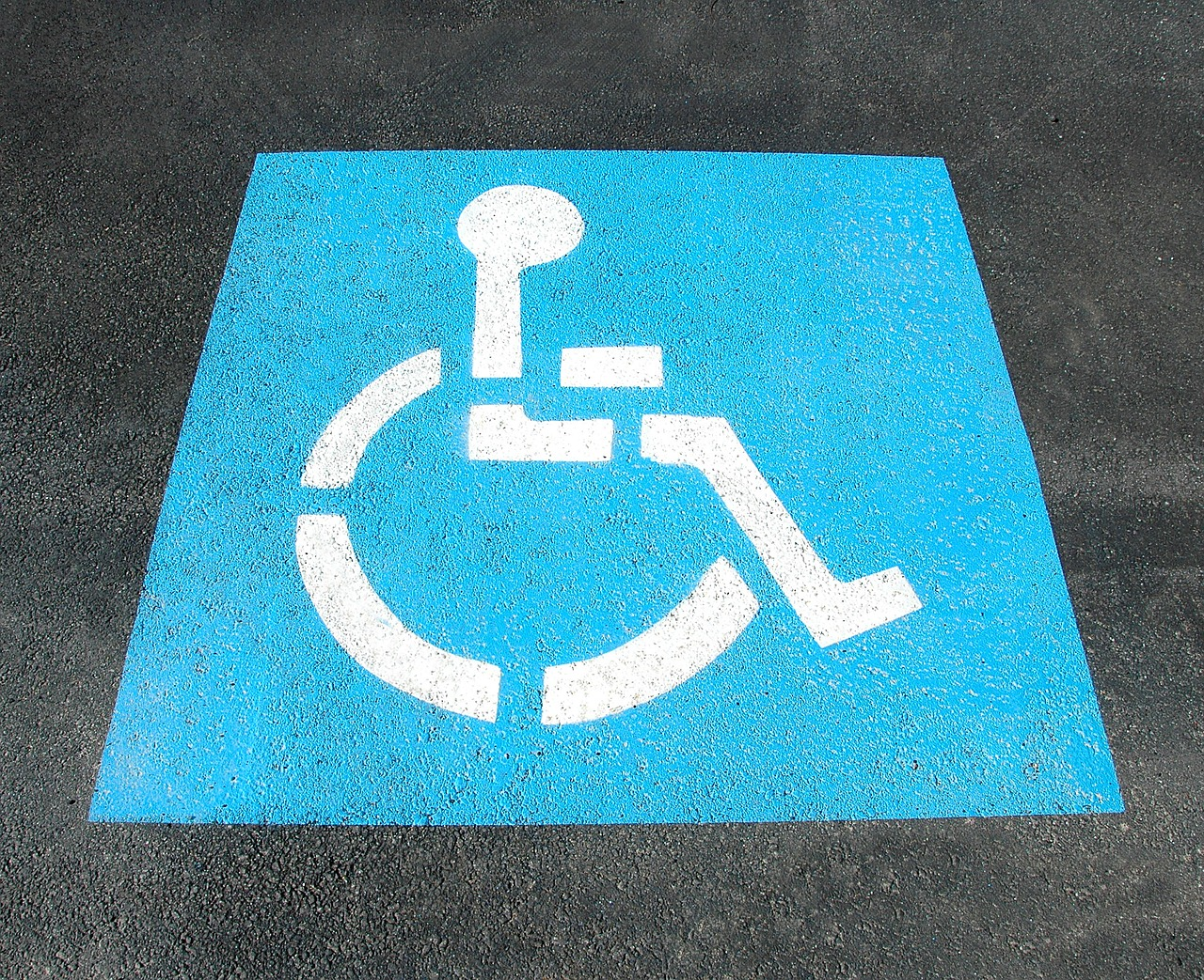 Handicap parking,sign,painted,street,disable - free image from ...