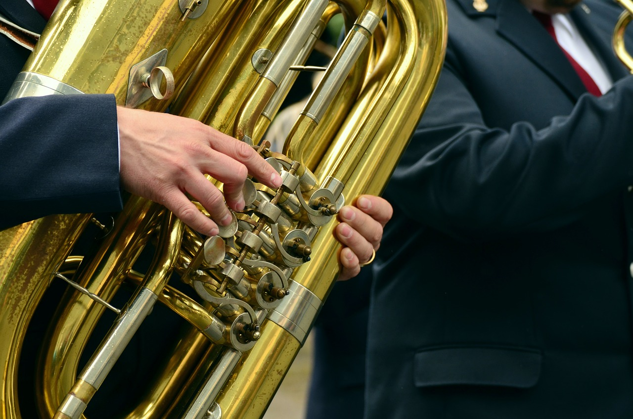 hands musical instrument tuba free photo