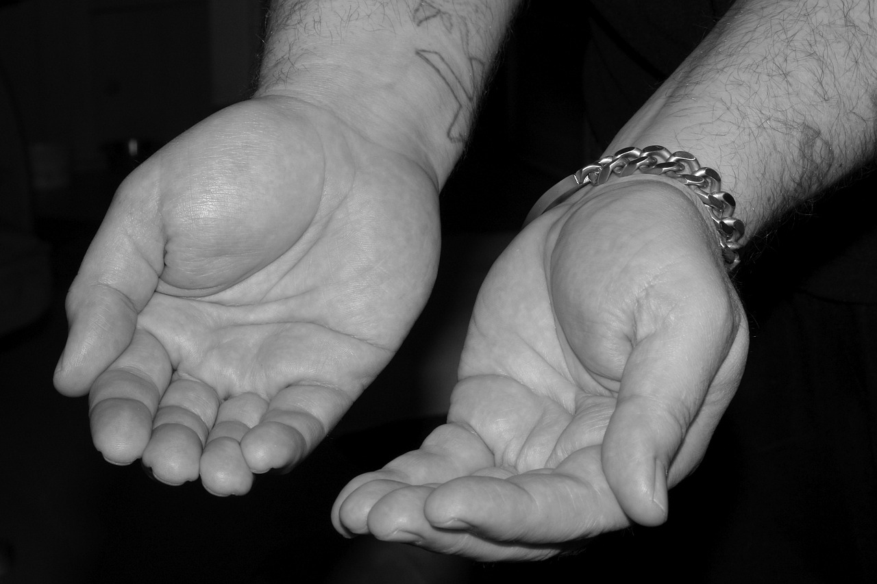 hands poverty little free photo