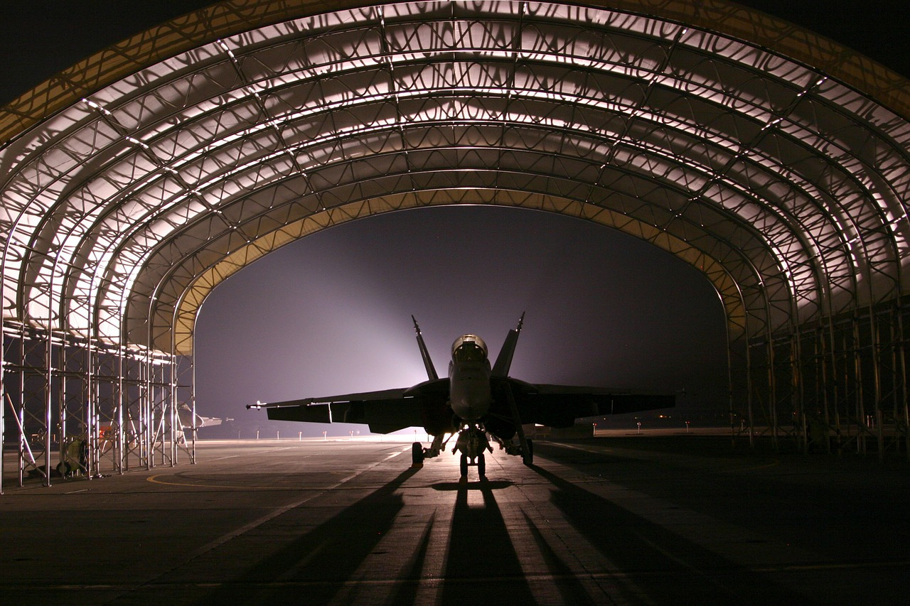 hangar jet aircraft free photo