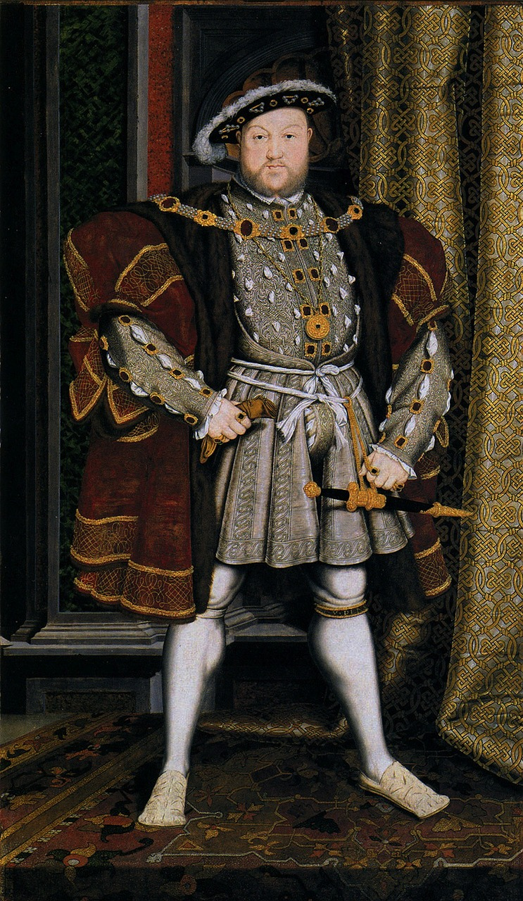 hans holbeing king henry viii england free photo