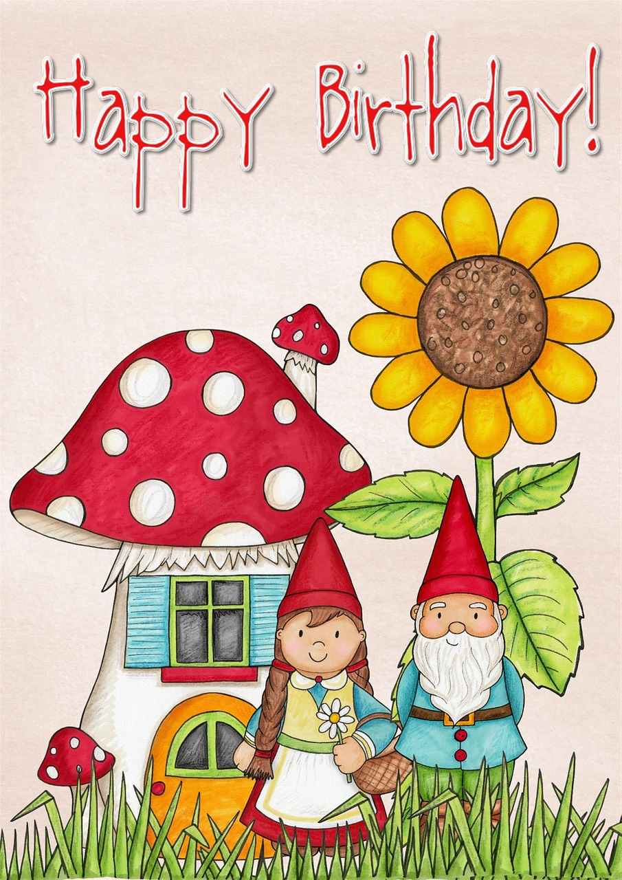 Excellent Download Free Photo Of Happy Birthday Card Greeting Mushroom Funny Birthday Cards Online Elaedamsfinfo