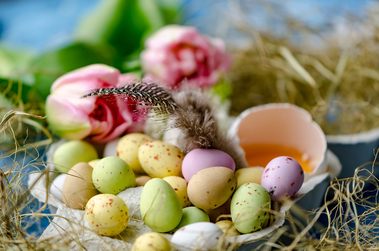 happy easter easter easter eggs free photo
