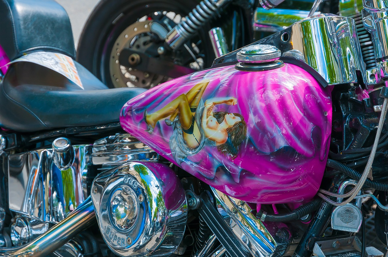 Harleytankpaintingharley Davidsonmotorcycle Free Photo From Pink Harley Davidson Motorcycle Davidsonmotorcyclevehiclegraphicsfree