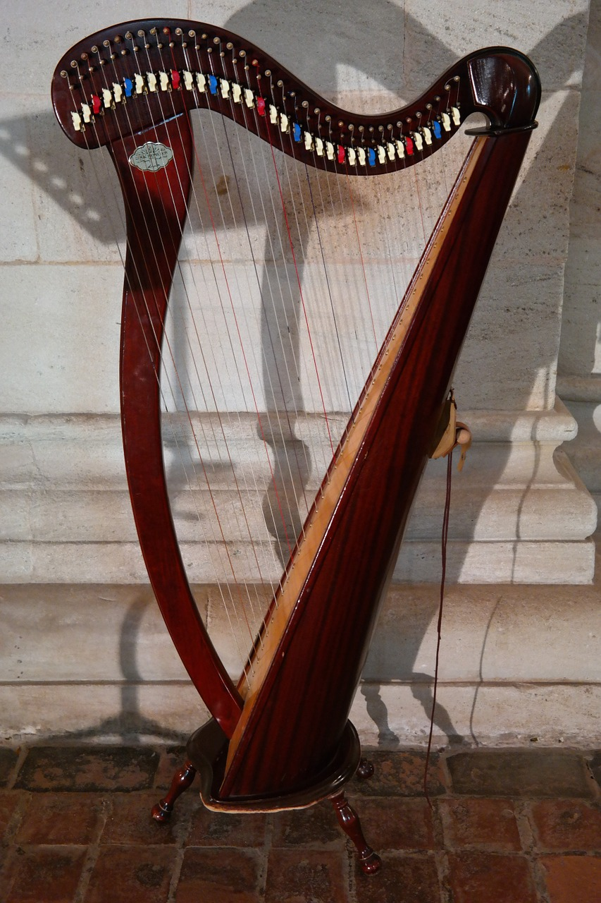 harp plucked string instrument musical instrument free photo
