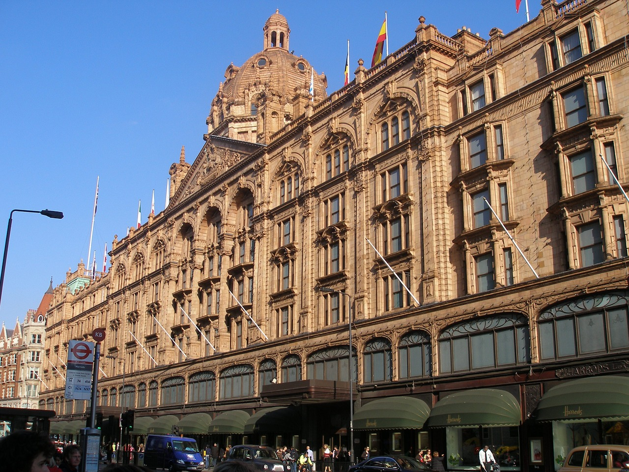 harrods department store london architecture free photo