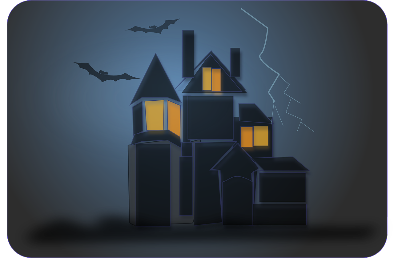 haunted house bats ghosts free photo
