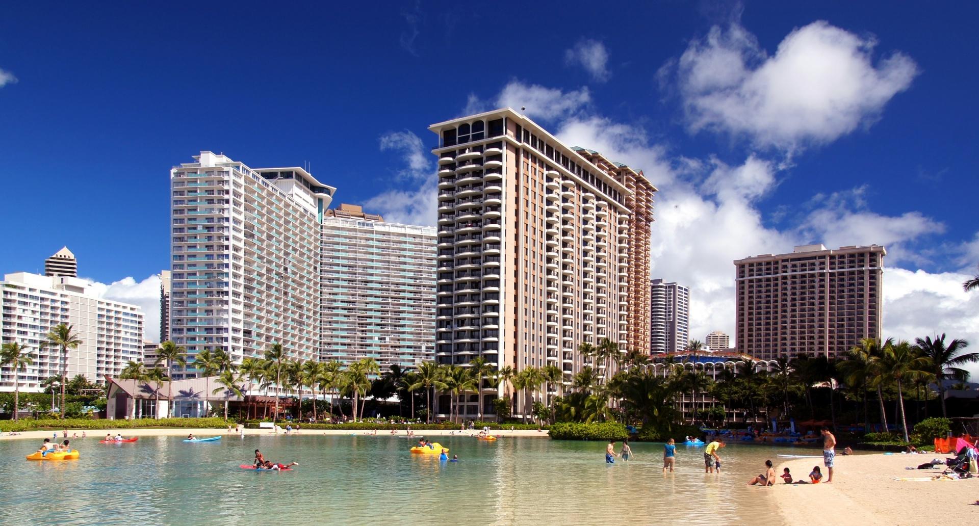 Hotels Waikiki Beach Hawaii Oahu Free Image From Needpix Com