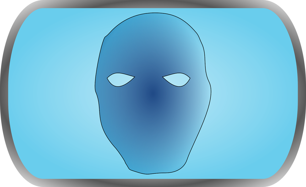 head,evil,unknown,blue,mystery,horror,spooky,free vector graphics,free pictures, free photos, free images, royalty free, free illustrations, public domain