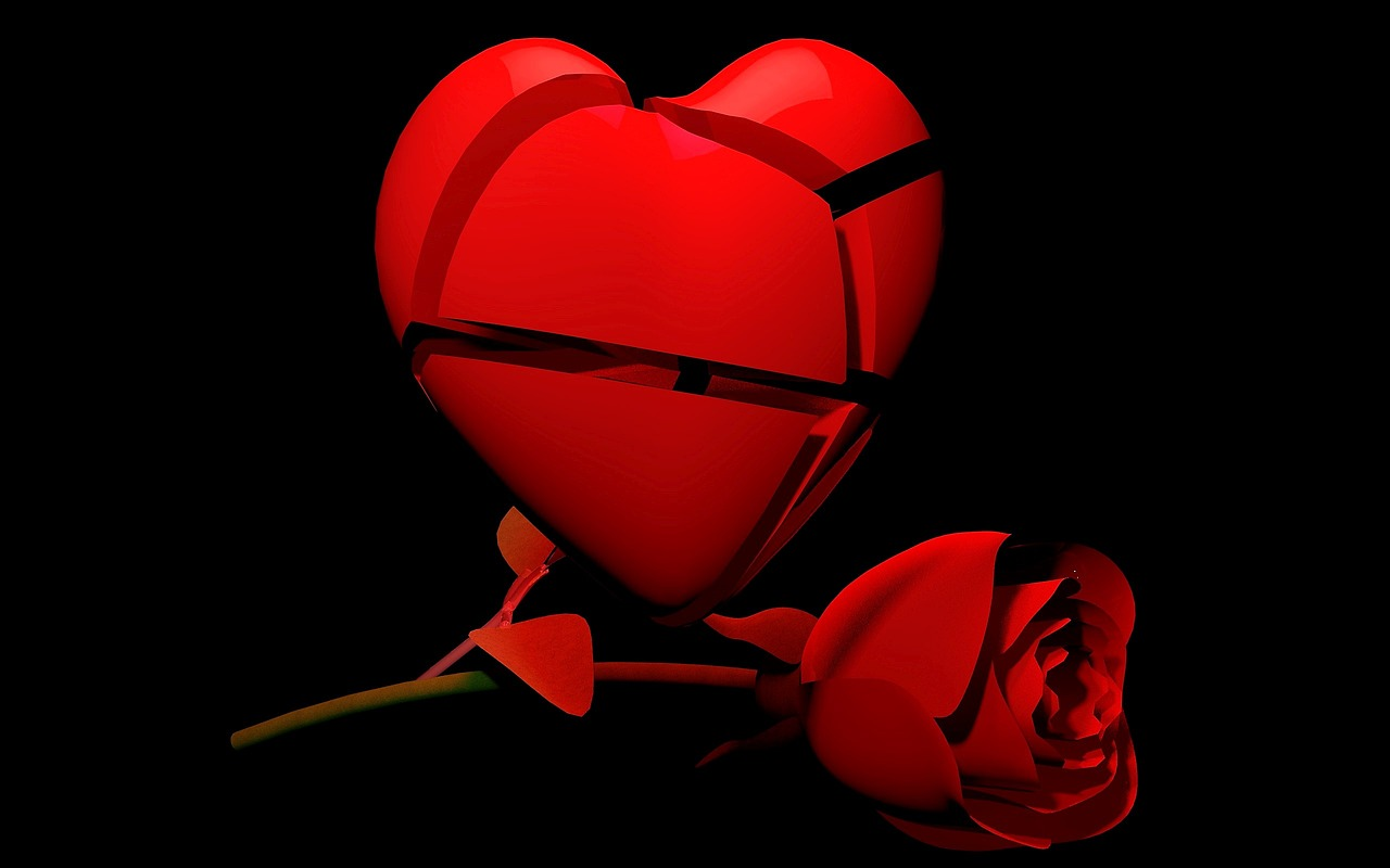 Broken Hearts With Roses
